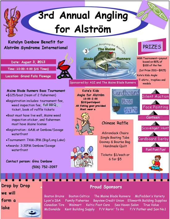 Flyer for the 3rd Annual Angling for Alstrom