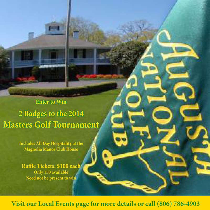 Masters Tournament Raffle!